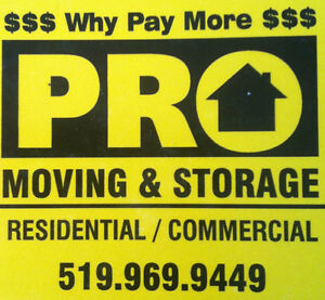 *SHORT NOTICE MOVERS*PRO-MOVING & STORAGE 519-419-5505*