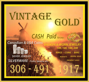 GOLD and SILVER Coin and Jewelry Buyer 306-491-1917