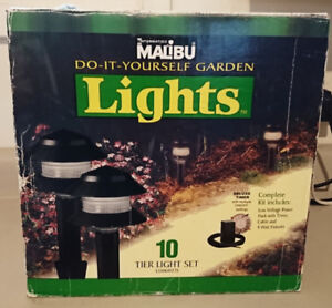 Malibu do It Yourself Garden Lights 5 Light Fixtures 4 Watt Bulb