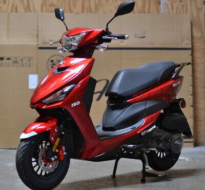 99% Assembled 2020 49cc Gas Scooter Moped LED Light KANDA Tires Remote Alarm USB