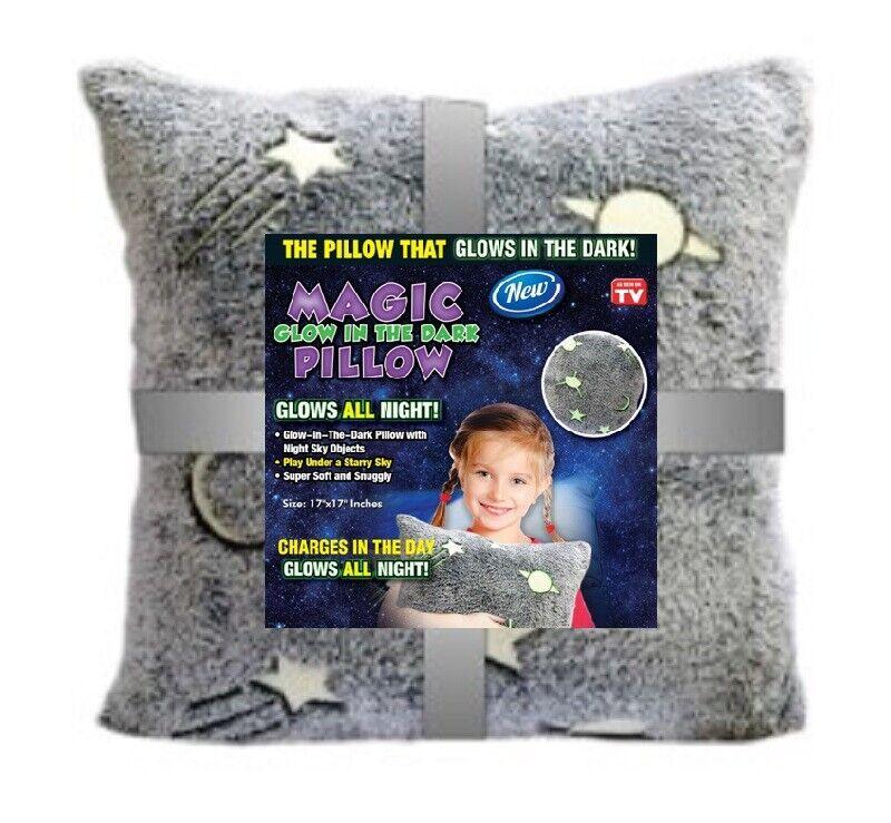 Kids Glow Pillow In The Dark - Star Night Objects - Glow Thr