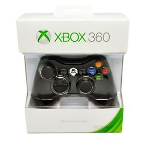 Official Microsoft Xbox 360 Wireless Controller (BLACK) - NEW!