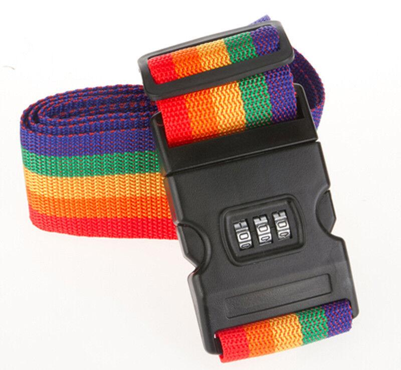 Cintura Bagaglio Lucchetto Combinazioni 3 Numeri Cinghia Proteggi Valigia moc