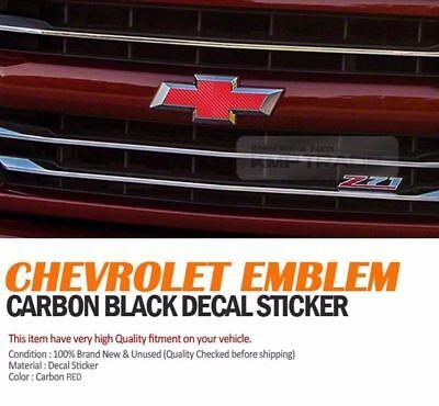 Front Rear Red Carbon Emblem Badge Decal Sticker For CHEVROLET 2011-16 Captiva