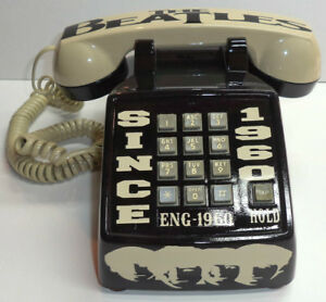 VINTAGE CUSTOM 1 OF A KIND THE BEATLES PUSH BUTTON PHONE
