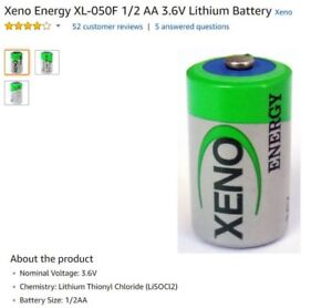 3.6V Lithium Batteries 1/2 AA For Alarm System Door Contacts