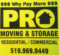 *PRO-MOVING & STORAGE*SHORT NOTICE*OPEN 24/7*519-969-9449*WE*R#1