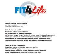 Fit4Life Summer Training!