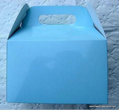 SOFT BLUE BABY Party Supplies BOXES Birthday Decoration GABLE Loots x12 Bag SKY for sale  Pomona