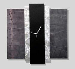 Abstract Contemporary Modern Metal Art Wall Clock - Time Eternal by Jon Allen