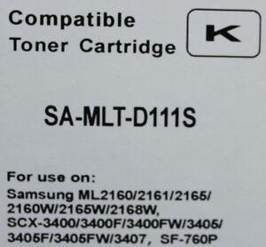 Samsung  MLT-D111SCompatible Toner Cartridge  ..  $32.99