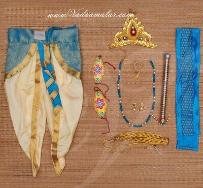 Blue Kids Kann Krishna Costume & accessories for janmastmi fancy Buy KDCost007