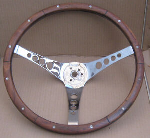 """ The 500 ""  Wooden Steering Wheel ( Walnut )  , by Superior"
