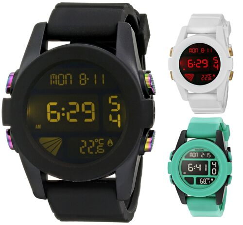 Mens Watches - Nixon Men's Unit Cosmos Digital 44mm Polycarbonate Watch - Choice of Color
