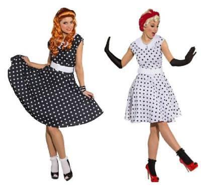 50er 70er Jahre Rock`n Roll Kleid Kostüm Petticoat Rockabilly Polka Punkte - Tanz Rock N Roll Kostüm
