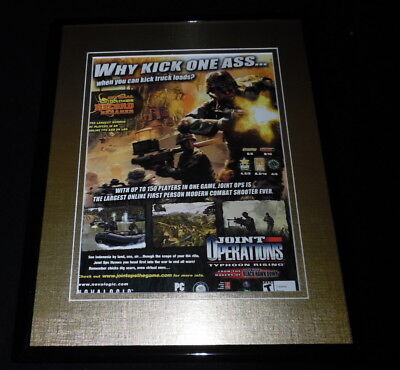 Joint Operations Typhoon Rising 2004 Framed 11x14 ORIGINAL Advertisement