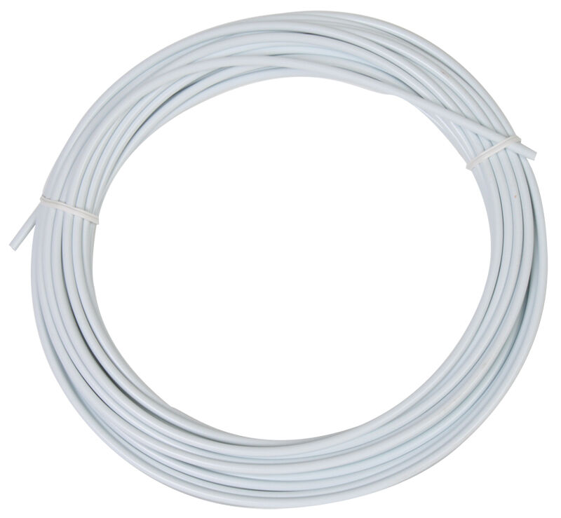 Sunlite Lined Brake Cable Housing, 5mm x 50ft, White