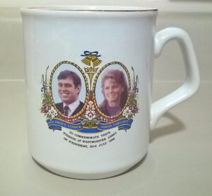 1986 Wedding of Prince Andrew and Sarah Ferguson, Mug