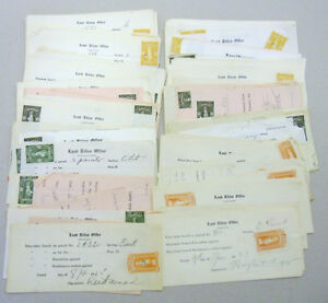 Postal Philatelic Stamps Land Titles Office Revenues On Document