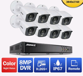 4K Video/8mp CCTV Outdoor Camera Night colour Vision Security System