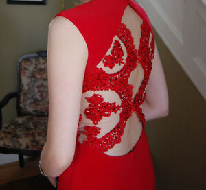 Red Sherry Hill dress