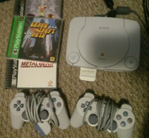 PS1 with 3 Games