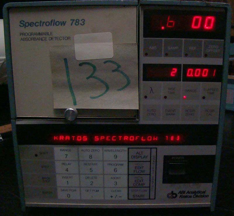 # 133 Kratos Spectroflow 783 Programmable Absorbance Detector
