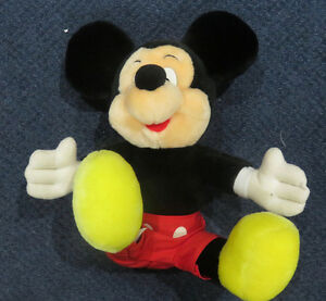 "Vintage 1980's Mickey Mouse 13"" Plush"