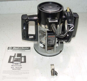 Black & Decker Router with bits
