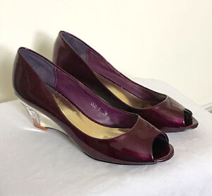 Heels for Sale - Unsister Brand, Deep Purple Patent Leather