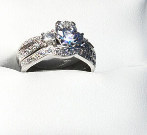 $11,500 APPRAISAL!!!  PERFECT WHITE GOLD WEDDING SET SEE VIDEO