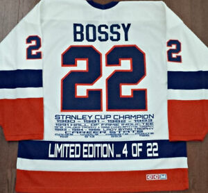 VINTAGE MIKE BOSSY ISLANDERS LIMITED/ED OF 22 CCM STATS JERSEY