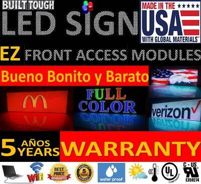 Rgb Full Color P10 Led Sign Programmable Scrolling Digital Display 25x 75 Usa