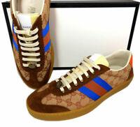 8e14b26a7 10.5 US / 9.5 G GUCCI Brown GG Logo Supreme JBG Retro Sneakers Men's Shoes