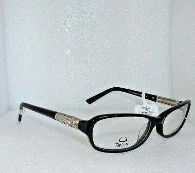 NEW TEKA EYEWEAR SOHO NY 208 COL.3 EYEGLASSES GLASSES FRAMES 56-1-140 BLACK