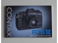 35mm Camera user manuals - originals - Contax Yashica and others. Various prices - SALE ON.