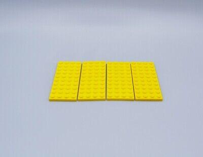 LEGO 4 X BASISPLATTE 4X10 GELB YELLOW BASIC PLATE 3030 4200024