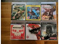 Ps3 games excellent condition. Uncharted series and others
