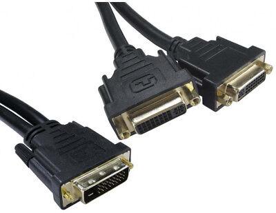 DVI Digital Dual Signal Splitter Duplicator - From PC Computer to 2 Screens