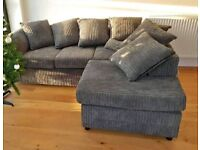 NEW BYRON JUMBO CORDED FULL FABRIC CORNER OR 3+2 SEATER AVAILABLE