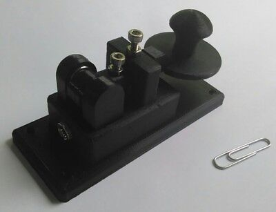 Navy Style Lightweight Micro Black Morse Code Telegraph Key MADE IN USA