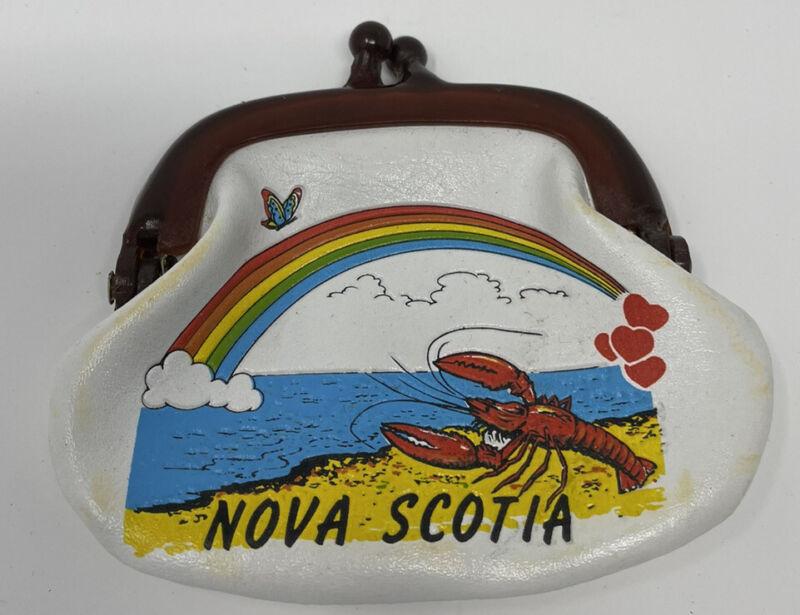 Nova Scotia Canada VINTAGE Coin Purse Change Souvenir