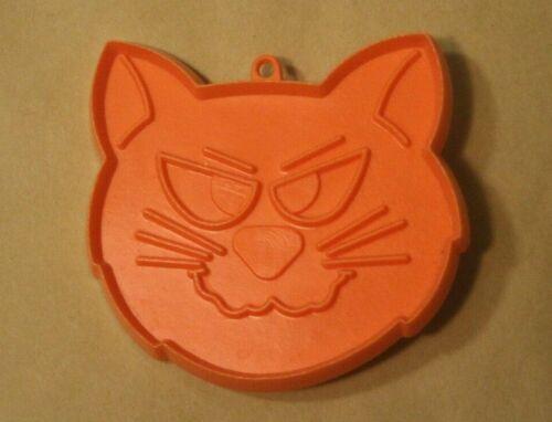 Halloween Cartoon Cat Face Vintage Orange Plastic Hallmark Treat Cookie Cutter