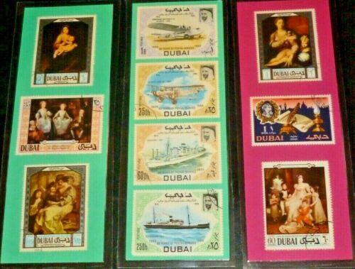 3 BOOKMARKS ~ DUBAI POSTAGE STAMPS ~ United Arab Emirates (UAE) Sharjah