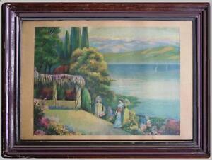 bella-incisioni-cromolitografie-fine-800-lago-Maggiore-cornice-coeva