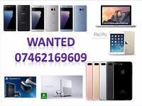 WANTED -iphone 7 plus 6s plus se iphone 6 5s samsung galaxy s6 s7 edge ipad mini air macbook pro ps4