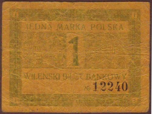 Poland / Lithuania   WILNO / VILNIUS  1 Marka 1920   Scarce!