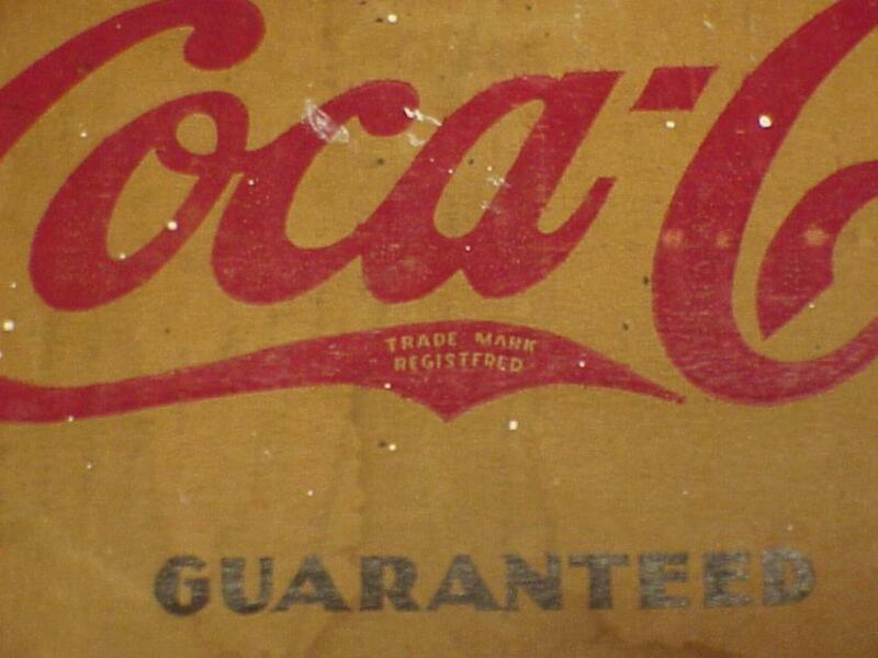BOX FLAP from Coca Cola Glasses with 1930s Trademark