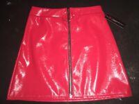 Red PVC Skirt Brand new