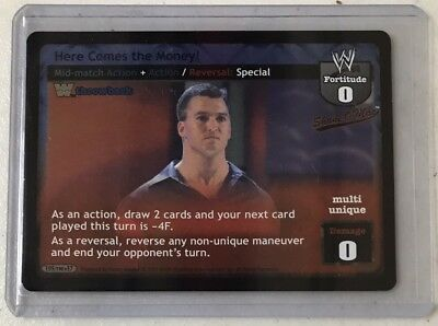"""WWE Raw Deal Shane McMahon """"Here Comes The Money!"""" Foil Card Comic Images WWF"""